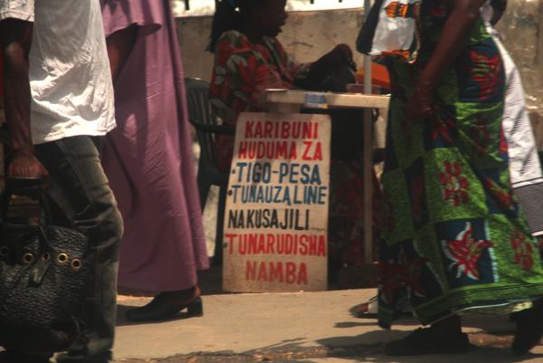 Street vendor in Tanzania